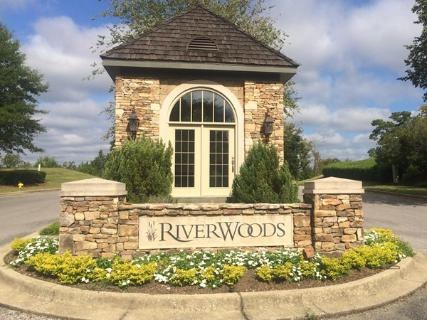 The entrance to Riverwoods in Helena