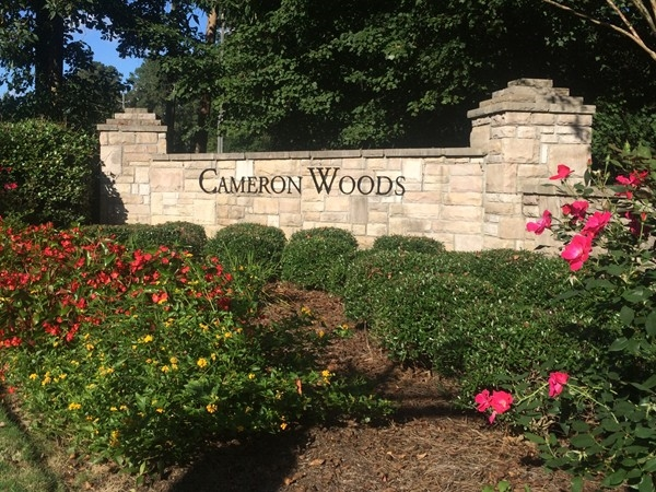 Entrance to Cameron Woods in Chelsea.