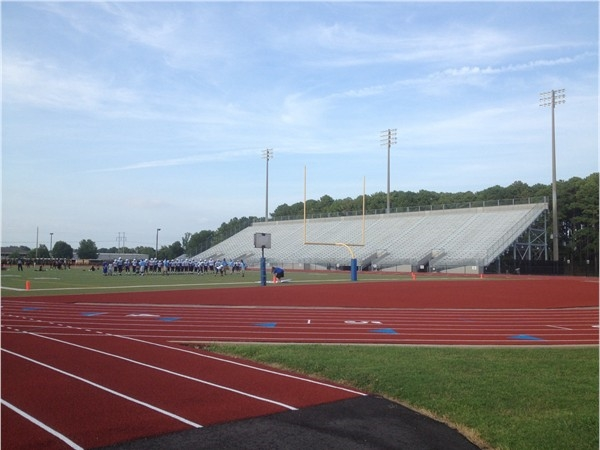 Milton Frank stadium and track for school activities in Huntsville
