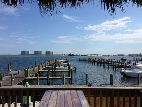The Tiki Bar at Sportsman Marina has a wonderful view!