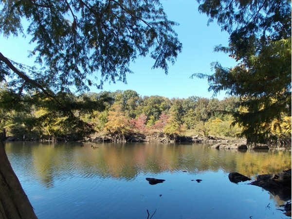Fall is coming to the Coosa. Trees along the shore will be changing soon