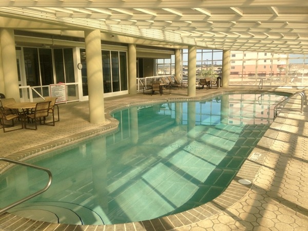 Indoor pool with retractable roof at The Colonnades