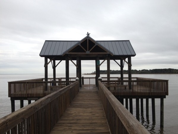This pier in northwest Mobile is a fine place to watch the water