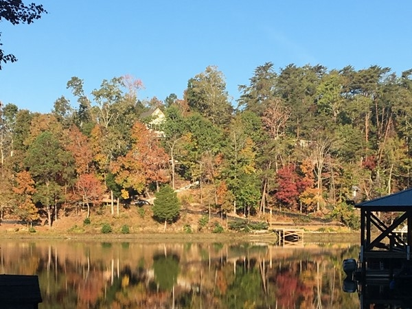 Lake Tuscaloosa on a beautiful fall morning
