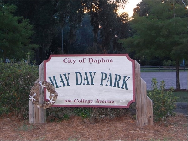 One of the benefits of living in Olde Towne Daphne, May Day Park