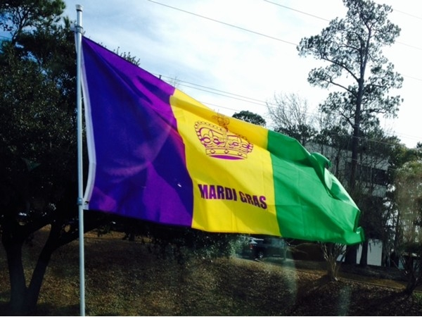 The flags are flying! Mardi Gras season is full of parades, beads, moonpies and smiles