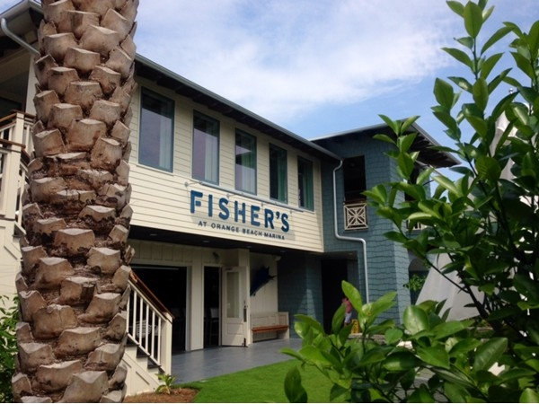 Fisher's at Orange Beach Marina--come by car or boat!
