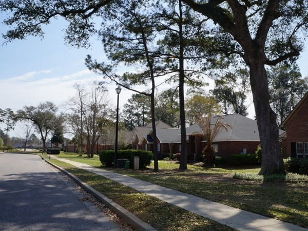 Tree-lined streets are a hallmark of Sehoy in Daphne, AL