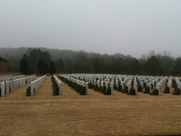 Beautiful commemoration of our men and women at Alabama National Cemetery