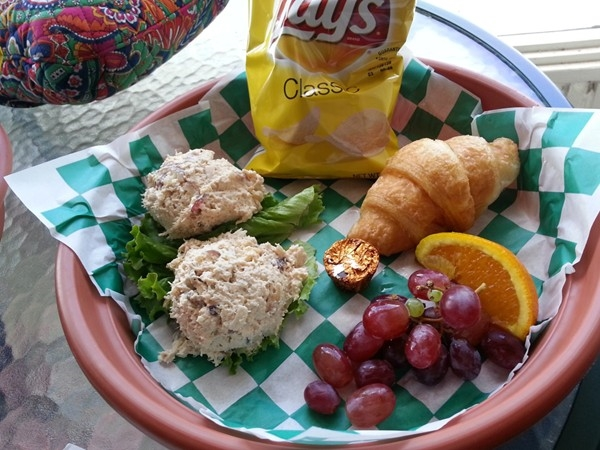 Tasty Chicken Salad, courtesy of The Cottage Cafe in Downtown Opelika