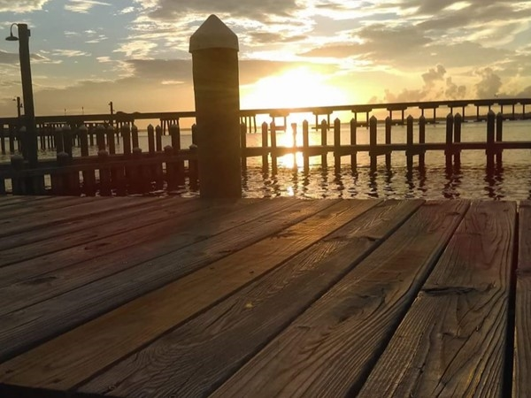 Sittin on the dock of the bay