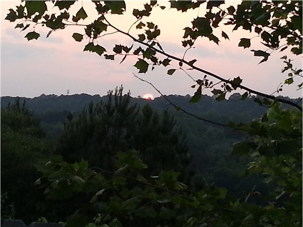 Sunset view from Shades Crest Road