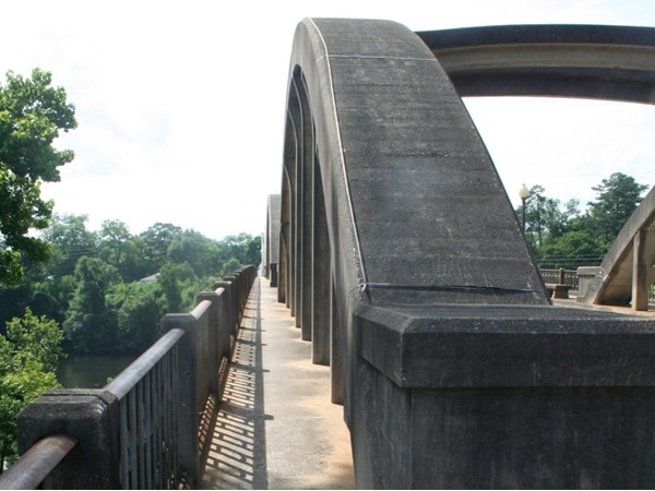 Take a peaceful walk across the bridge in Wetumpka