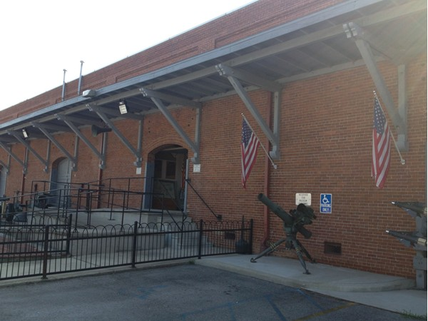 Entrance to Alabama Veterans Museum in Athens, AL
