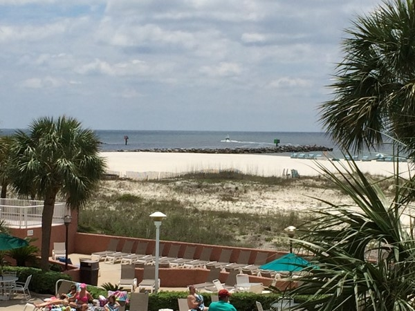 "Cheeseburger ""literally"" in Paradise!!  View from the Terrace Cafe at the Perdido Beach Resort"