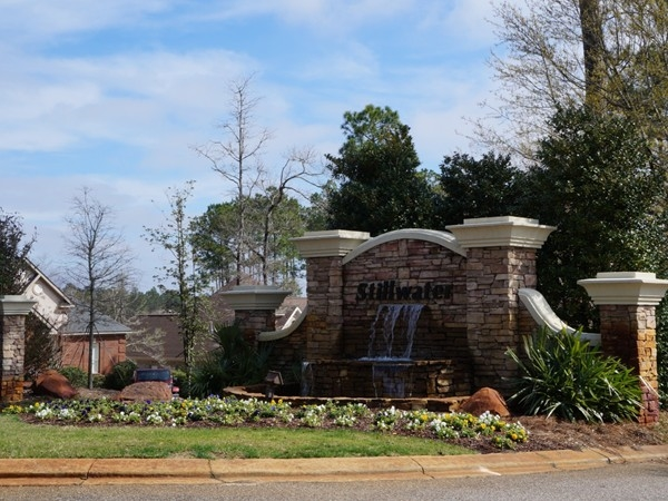 Stillwater's bubbling fountain greets homeowners