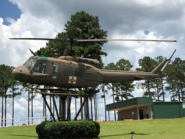 Helicopter at Veterans Memorial in Elba