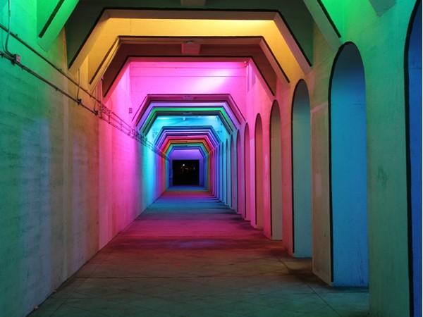 Amazing lighting under the 18th Street Viaduct