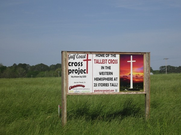Wow, tallest cross in the Western Hemisphere, coming soon to Summerdale!