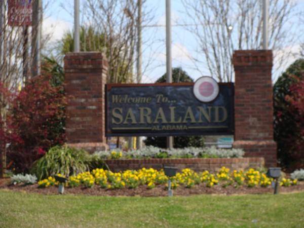Saraland, Alabama - located off of I-65 at Exit 13 just north of Mobile.