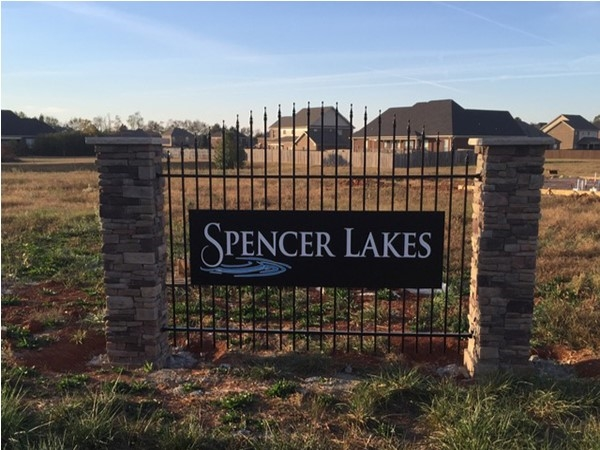 Spencer Lakes is the new up and coming community starting up in Meridianville