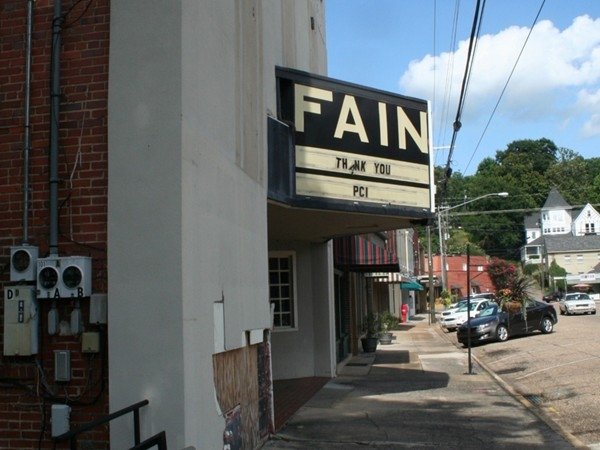 Fain Movie Theater in downtown Wetumpka, a popular theater of Wetumpka built in the late 1930s.