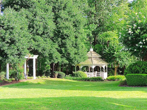 Private gazebo in Canebrake golf community