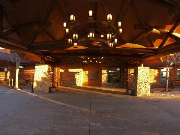 Entrance to the Lodge At Wilderness Hills. Feels like you are in Colorado or Montana!