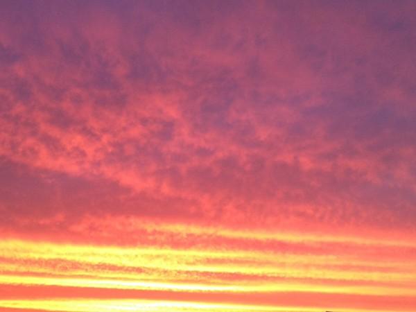 Amazing sunset tonight in Waukee, Iowa