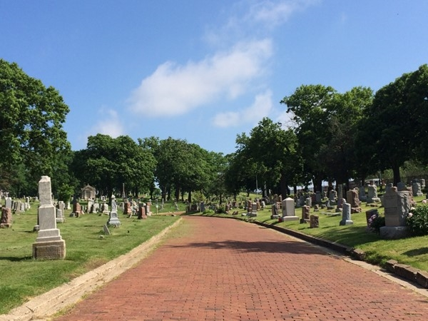A nice view of Woodland Cemetery
