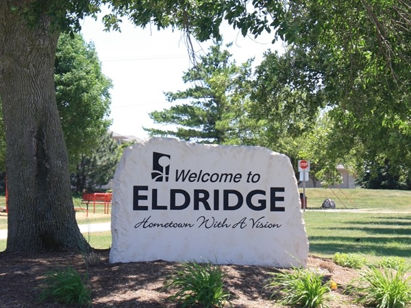 Our new Welcome to Eldridge stone
