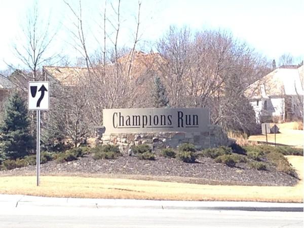 Entrance to beautiful Champions Run