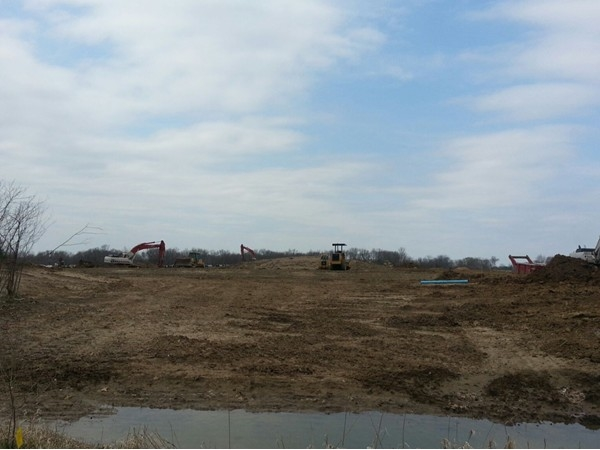 Progress of Lost Lakes home community as of Apr 22, 2014