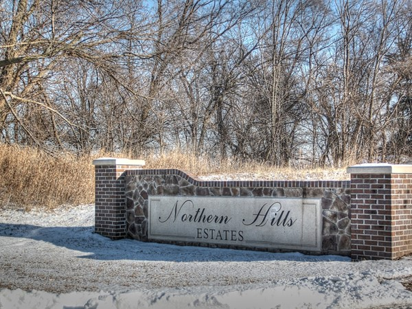 Entrance to Northern Hills Estates is right off of northern 72nd Street