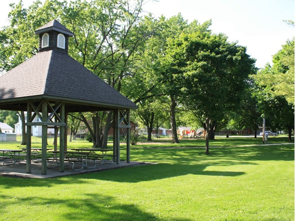 Parker-Muncey Park offers a great shelter for picnics, family reunions, or meetings