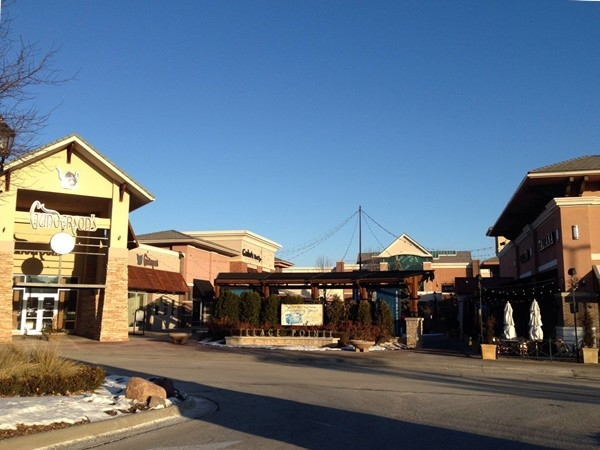 Village Pointe outdoor shopping at 168th and Dodge