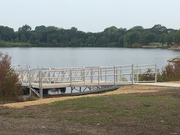 A new pedestrian bridge has been added to Big Wood Lake campground. Enjoy fishing and the calm lake