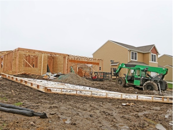 New home construction in Pine View Estates community, Ankeny Iowa as of May 1st 2014