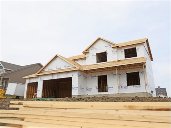 New homes being built in the Rock Creek Crossing Community, Ankeny Iowa - as of May 1st 2014