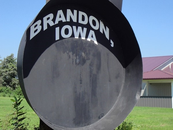 Iowa's Largest Frying Pan located in Brandon