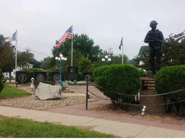 Veterans Memorial Park in Dunkerton is the perfect place of reflection and remembrance