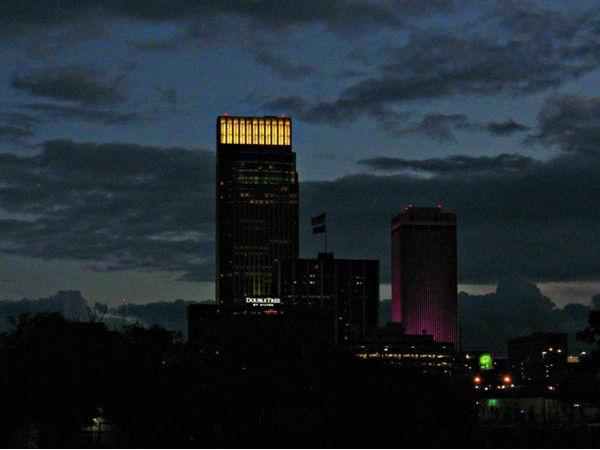 View from North Downtown Omaha