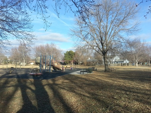 Enjoying a break from the winter weather at Pansing Park, 52nd and Van Dorn