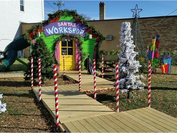 Santa's Workshop in downtown Cedar Falls