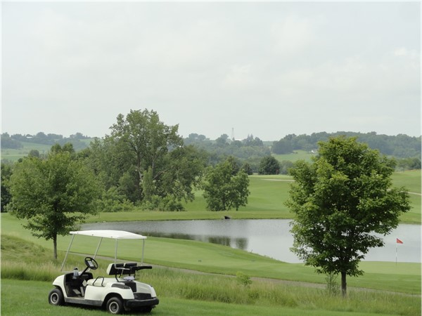 Beautiful views from the Meadows Golf Club in Asbury, Iowa