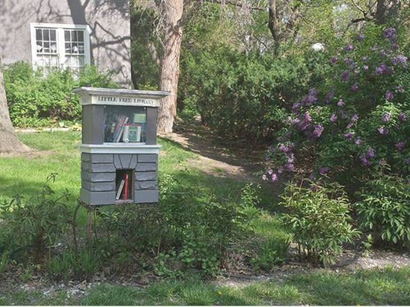 Little Free Library located at 4100 S 41st Street, Lincoln, NE