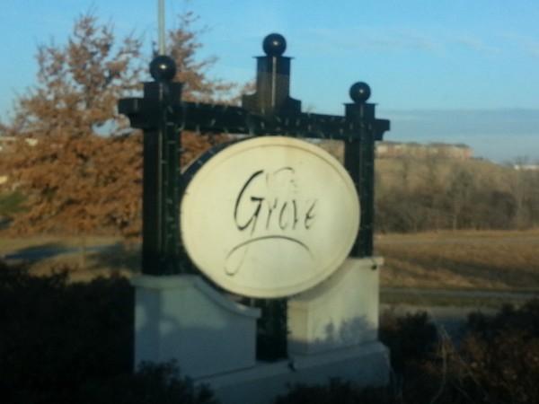 Entrance to The Grove neighborhood