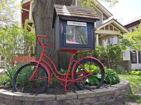A unique  Little Free Library in Lincoln