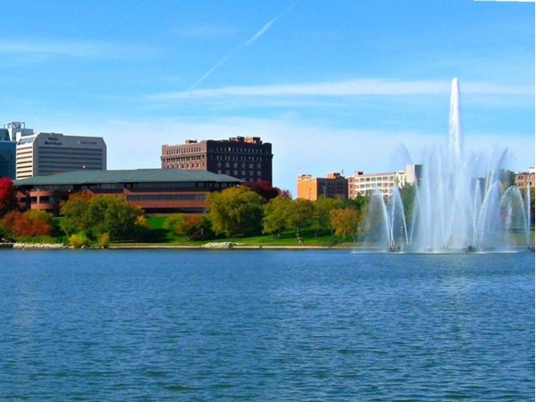 Feed the carp at Hearland of America Park in downtown Omaha