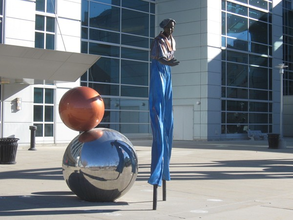 Art at the Centurylink Center in downtown Omaha, home of Creighton Bluejays men's basketball